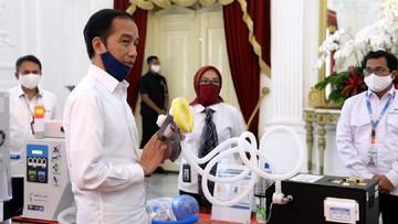 Buat Sendiri dan Tak Diimpor, Jokowi Pamer 'Senjata Perang' Indonesia Lawan Covid-19
