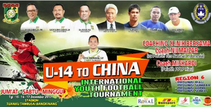 Jadi Tuan Rumah, 24 Tim Berlaga di International Youth Football Tournament bertajuk DCT China di Bangkinang-Kampar