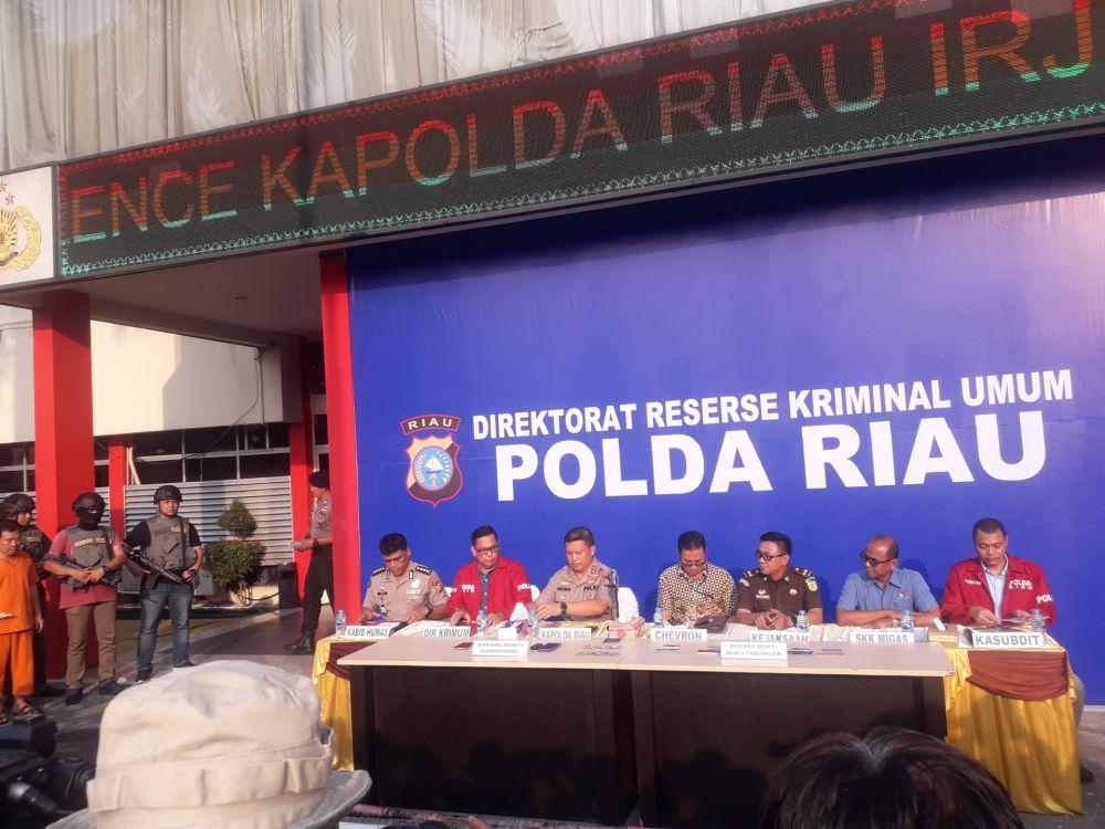 Polda Riau Amankan 5 Tersangka Kasus Pencurian Minyak Mentah dari Pipa PT CPI