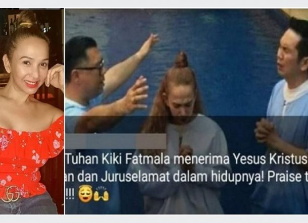 Heboh Kabar Artis Kiki Fatmala Pindah Agama, Warganet: Bodo' Amat Dah!