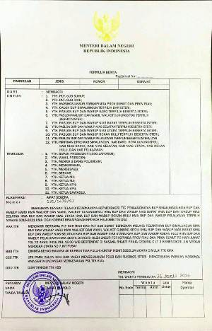 Ini Kutipan Surat Mendagri untuk Pelantikan Bupati Pelalawan dan Rohul Besok