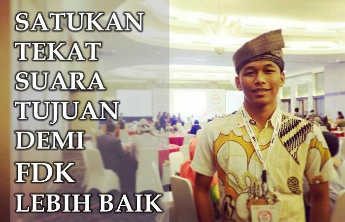 Aklamasi, Aji Nur Sahir Terpilih sebagai Ketua BEM FDK UIN Suska Riau