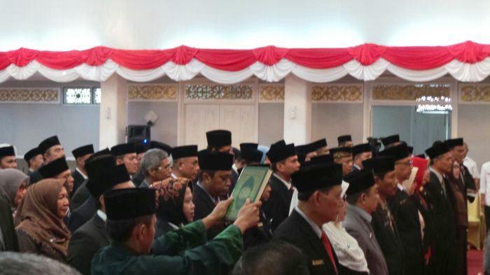 DILANTIK SEKDAPROV, Sejumlah Pejabat Pemprov Riau Turun Jabatan