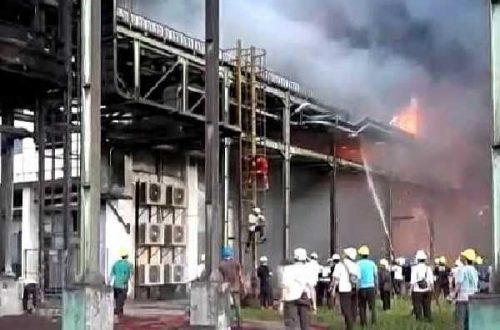 Pabrik Sawit Milik PT Sari Dumai Sejati di Lubuk Gaung  Terbakar, Asap Gelap  Membumbung Tinggi..