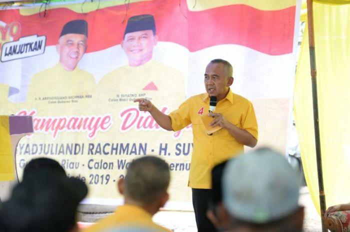 Kampanye di Tapung, Andi Rachman Janjikan Dana Rp1 Triliun untuk Kembangkan BUMDes