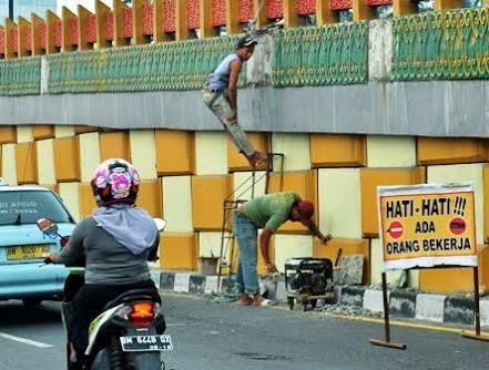 Gara-gara Ini, PUPR Bakal Copot Ukiran Melayu di Dua Fly Over Sudirman Pekanbaru