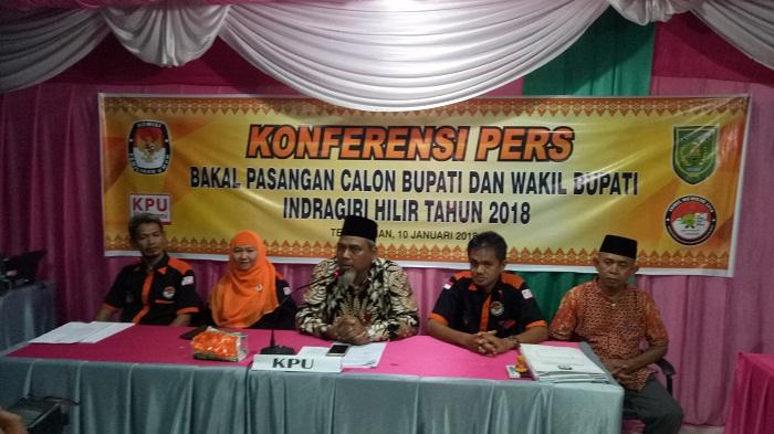 SAH...Tiga Bakal Pasangan Calon Bupati dan Wakil Bupati Inhil Mendaftar ke KPU