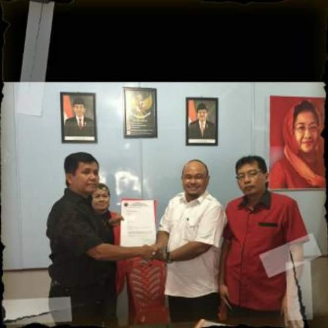 Mendaftar di PDI Perjuangan,Heri:Doakan Saya bisa menjadi bakal calon untuk Pilwako 2017