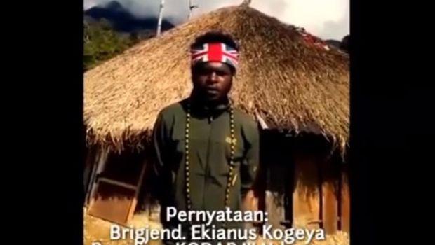 LUCU... Pimpinan KKB Tulis Namanya Brigjend Ekianus Kogeya, Warganet: