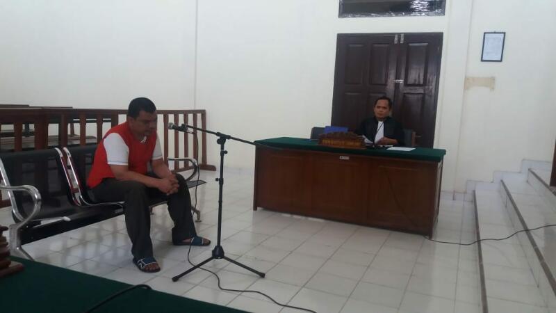 Residivis Narkotika, Mantan Polisi Rohil Dituntut 15 Tahun Penjara