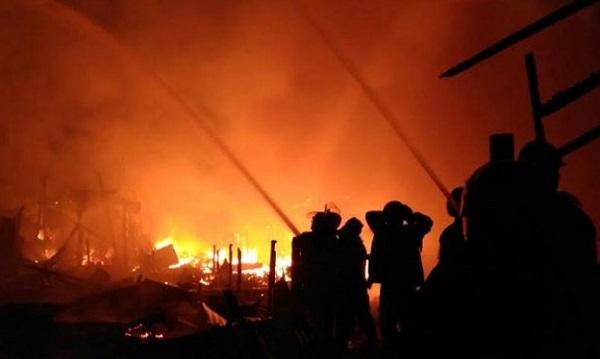 Kebakaran Hebat di Gaung Anak Serka, Tiga Orang Meninggal Dunia