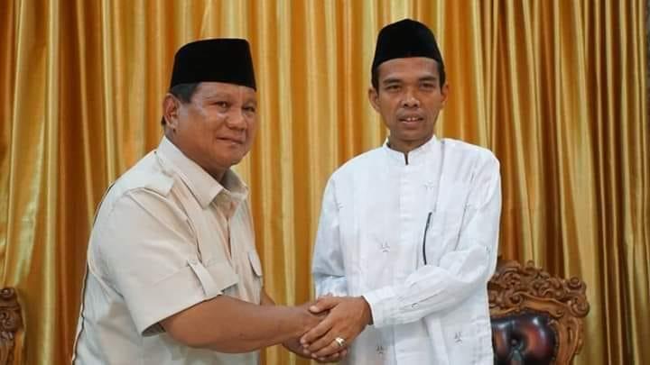 Dukung Prabowo, UAS Jadi Pukulan Terakhir untuk Jokowi di Injury Time
