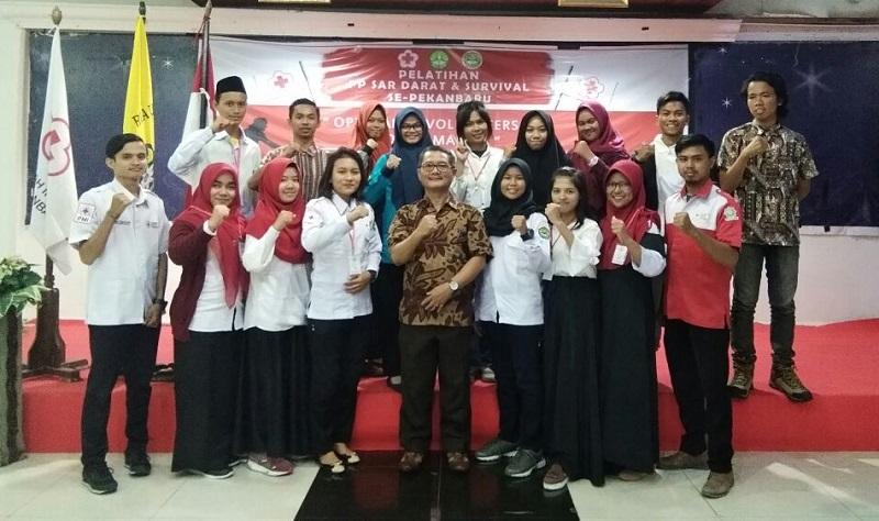 PMI Unit Universitas Riau Gelar Pelatihan Pertolongan Pertama dan SAR Darat
