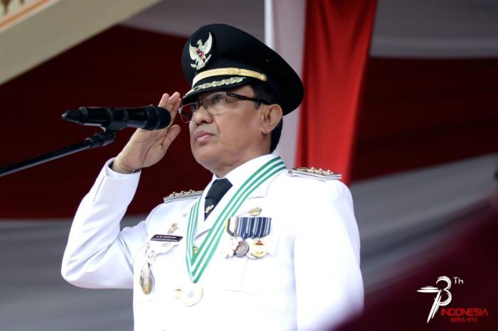 Bupati Wardan Pimpin Peringatan HUT Kemerdekaan RI Ke - 73, Ini Pesannya