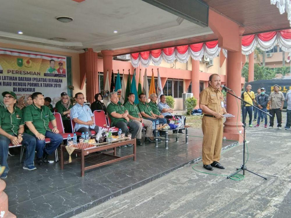 165 Atlet Riau Ikuti Pelatda Porwil X Bengkulu