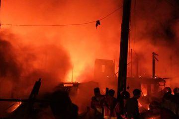 Panipahan Membara, 22 Unit Rumah dan Bangunan Ludes Terbakar, Satu Orang  Meninggal Dunia