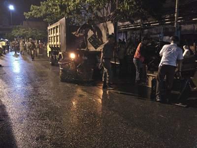 DINIHARI TADI: Tim Gabungan Pemko Geruduk PKL Alimuddinsyah, Teratai dan Seroja