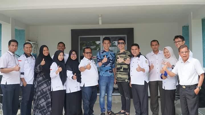 Jelang Tampil di LIDA Indosiar, Arif Sambangi Diskominfo Kampar