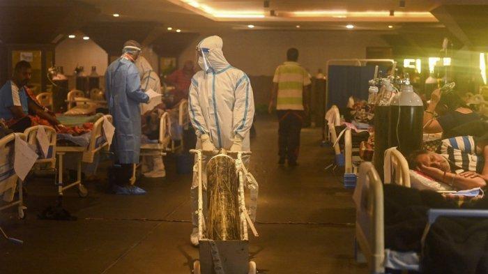 India Makin Parah, Dilanda Tsunami Covid-19, Vaksin Menipis, Kekurangan Tabung Oksigen, Ruang Perawatan Habis ...
