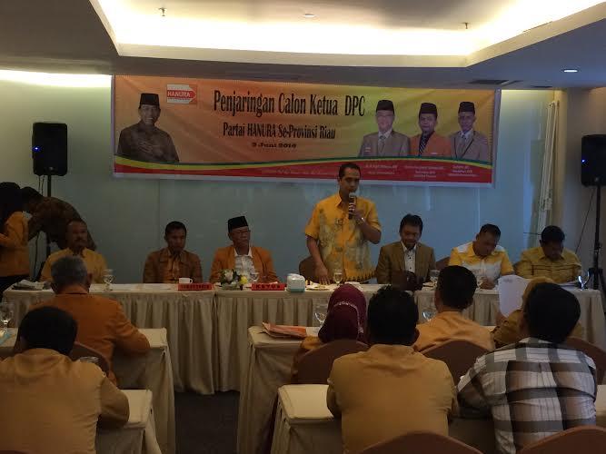 DPD Hanura Buka Penjaringan Ketua DPC Kabupaten/Kota di Riau, Minat?