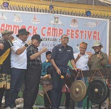 Dispar Riau Apresiasi Iven Hammock Camp di Buluhcina