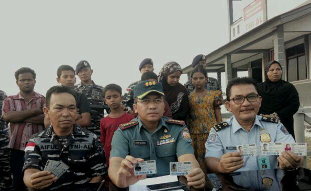 Hendak ke Malaysia, 7 Warga Rohingya Diamankan Lanal Dumai