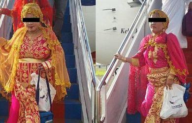 BIKIN HEBOH...Berpenampilan Glamor, Jamaah Haji Ini Jadi Sorotan di Bandara saat Pulang dari Tanah Suci