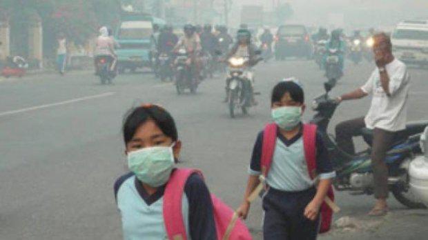 Udara Memburuk, SMP di Siak Liburkan Aktivitas Belajar, Bengkalis Jalan Terus..