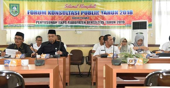 Susun RKPD 2019, Bappeda Bengkalis Gelar Konsultasi Publik