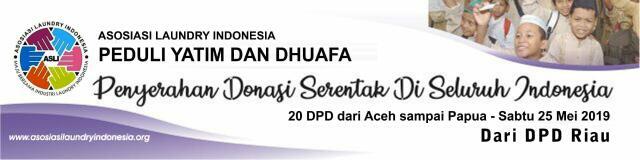 Serentak Seluruh Indonesia Asosiasi Laundry Indonesia DPD Riau Berbagi Bersama Dhuafa