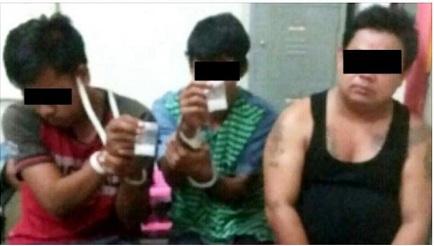 EDARKAN SABU-SABU... Tiga Warga Kuntu Diringkus Polisi