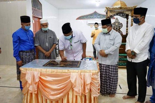 Resmikan Masjid Al Kautsar, Bupati Siak  Alfedri: Terapkan Protokol Kesehatan