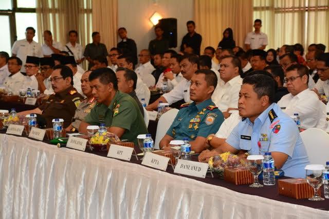 Kasrem Bersama Forkopimda Provinsi Riau Hadiri Rapat Koordinasi dengan KPK