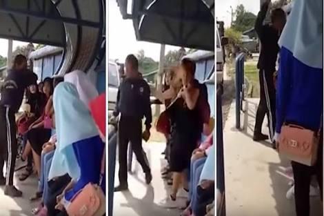 VIRAL...Gara-gara Jilbab, Pria Malaysia Tampar Seorang Wanita Indonesia, Ini Videonya