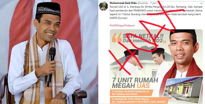 LAM Riau Sesalkan Fitnah yang Menimpa Ustadz Abdul Somad