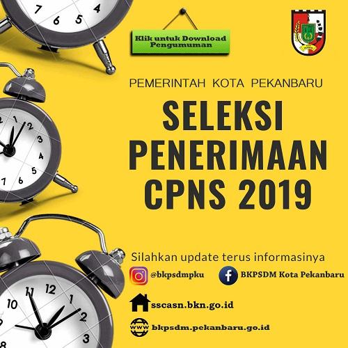 Pengumuman Penerimaan CPNS Kota Pekanbaru, Baca Linknya Disini