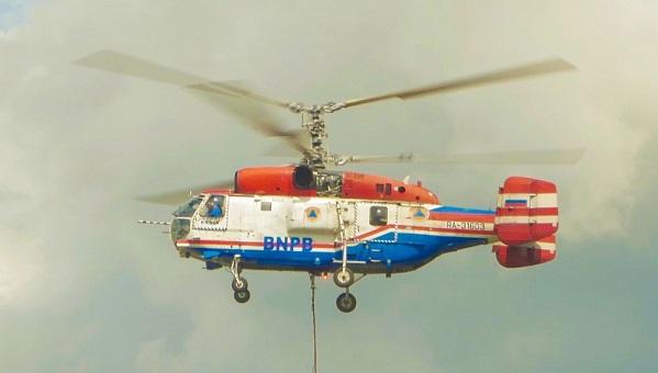 Besok, Helikopter Water Bombing Kementerian LHK Bantu Padamkan Karhutla di Rohil