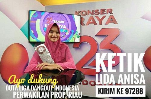 Syamsuar Jadi Jurkam Anisa Ikuti Liga Dangdut Indonesia