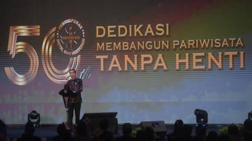 TAK KONSISTEN...Saat Hadiri HUT PHRI, Jokowi Cabut Larangan Mendagri Tak Boleh Rapat di Hotel