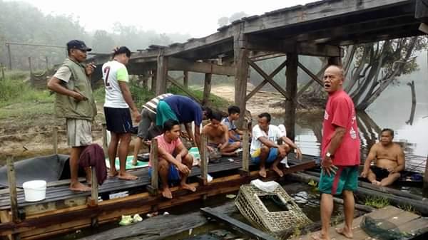 Maaf! Pemkab Tak Ada Anggaran Perbaiki Jembatan Tambak, HM Harris: Pakai Dana Desa...