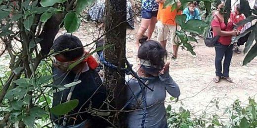 WARGA MARAH,  Wanita dan Dua Anaknya Diikat di Pohon dan Tewas Karena Digigit Semut Api