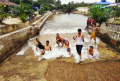 Adem, Begini Serunya Basah-basahan di Pemandian Sungai Ajil di Kampar