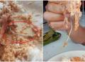 Astaga! Asyik Makan, Wanita Ini Tak Sadar Hampir Menelan Kail Pancingan yang Masih Tertancap di Ikan