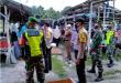 TNI- Polri dan Satpol PP Siak Sosialisasi Penerapan Protokol Kesehatan di Pasar Tradisional