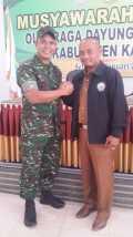 Dandim 0313/KPR Terpilih Sebagai Ketua di Muscab PODSI Kampar